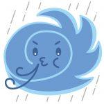 台風25号の影響による診療時間変更について