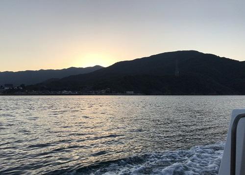早朝の釣り