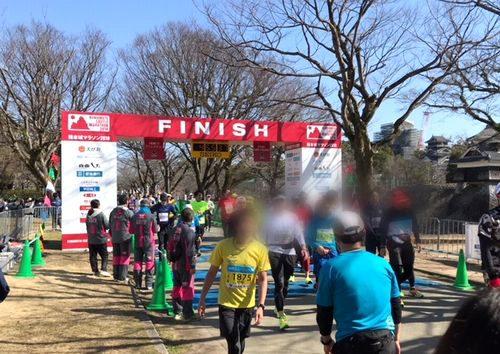熊本城マラソンフィニッシュ