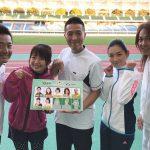 響ローラさん、タナカハルナさんとあっぷるリレーマラソン練習!