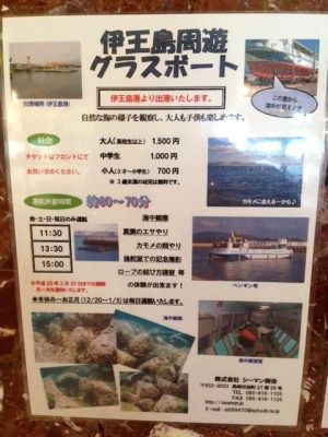伊王島、グラスボート
