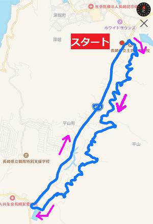 ジョギングコース地図
